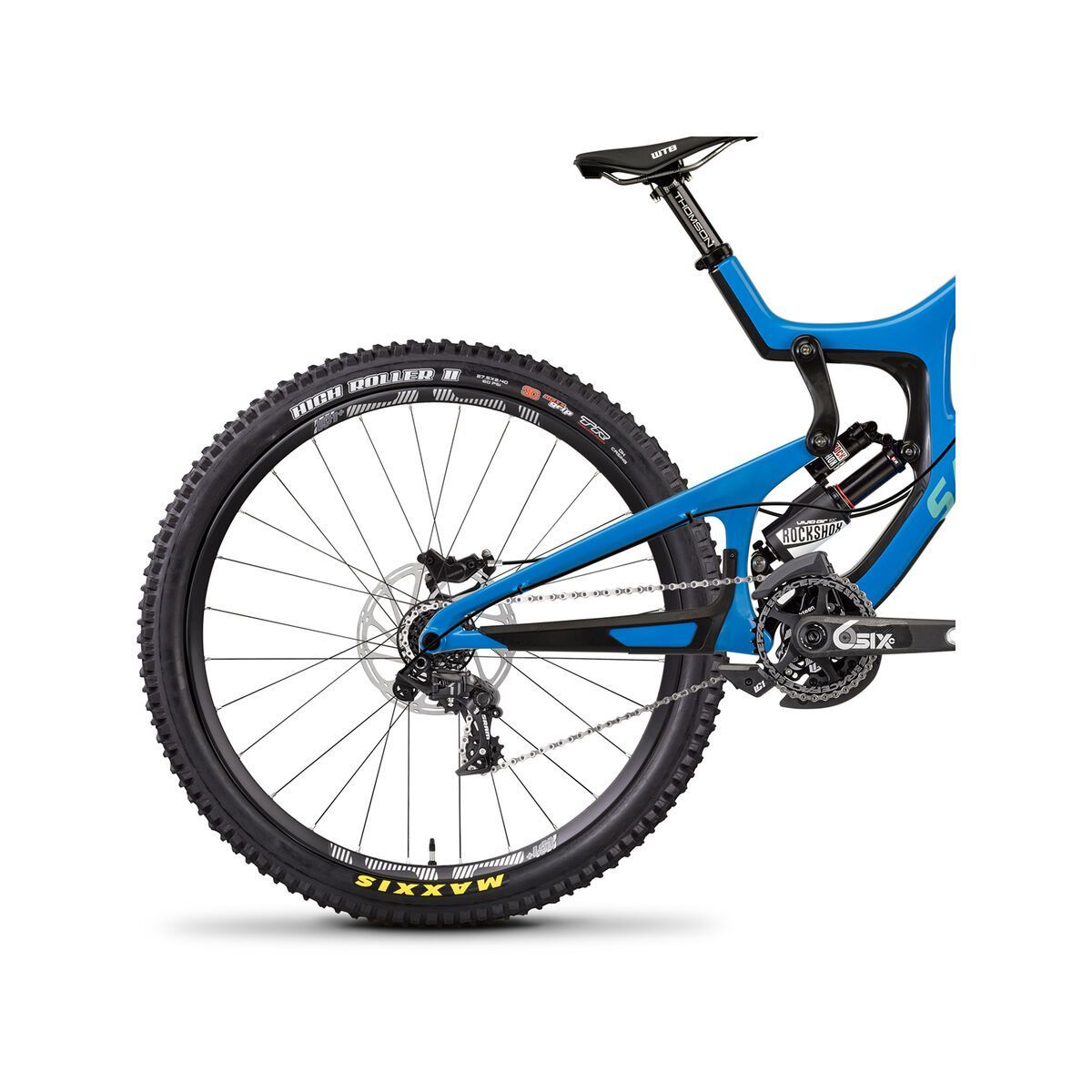 Santa Cruz V10 CC X01 RockShox Vivid Air, blue/mint | Bild 5