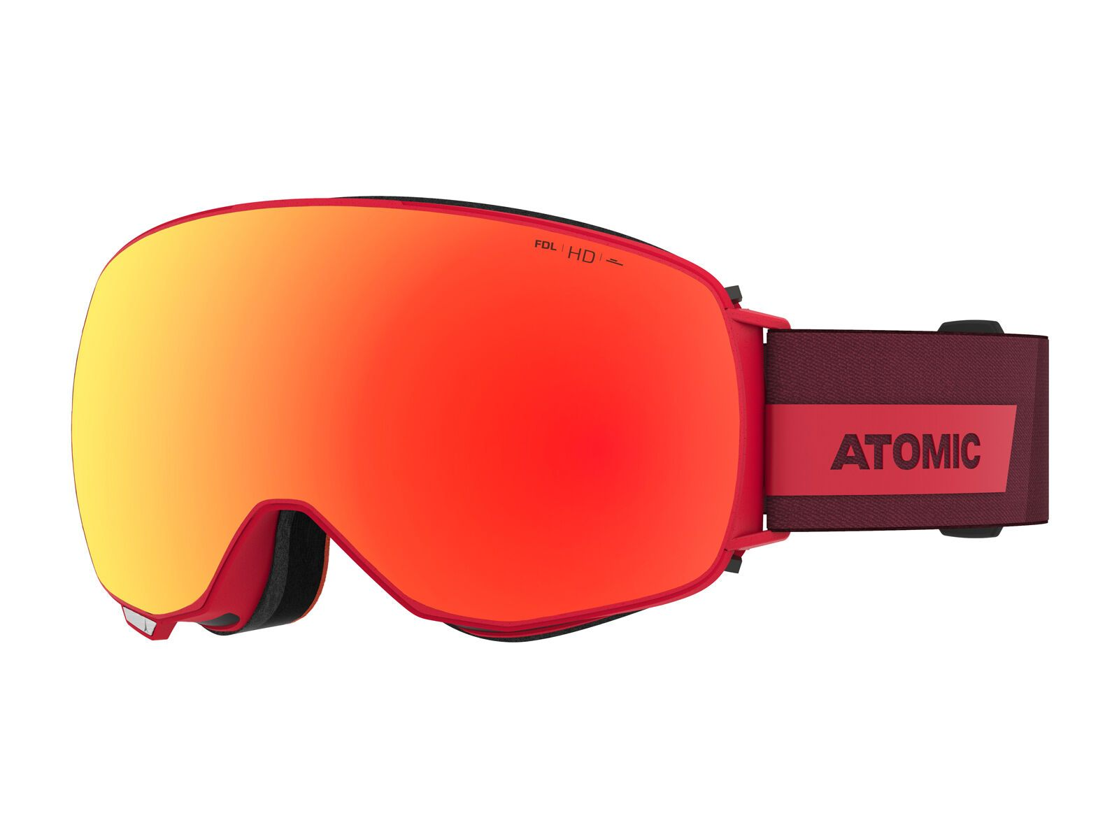 Atomic Revent Q HD inkl. WS, red/Lens: red hd - Skibrille AN5106064