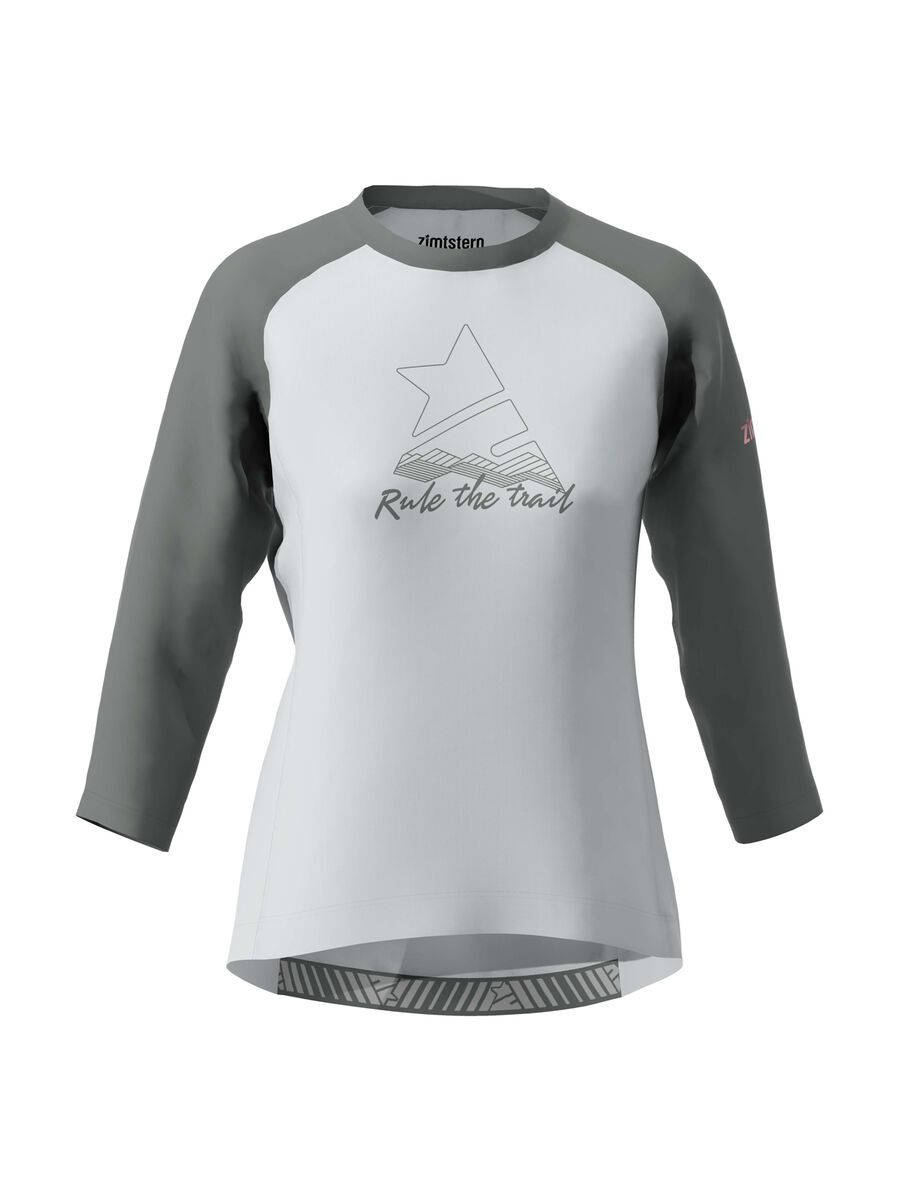 Zimtstern PureFlowz Shirt 3/4 Women's, grey/gun metal/blush - Radtrikot, Größe M W10021-2006-03