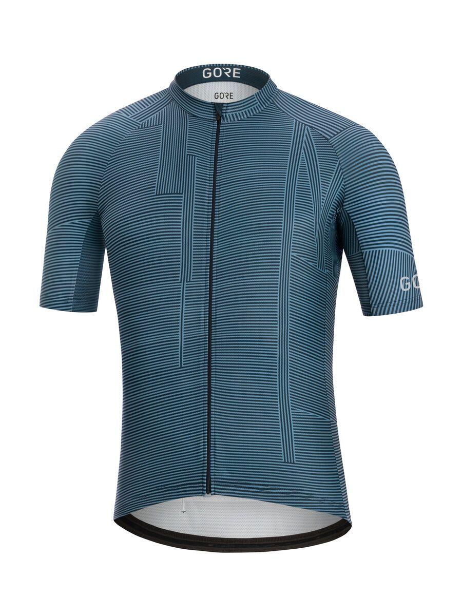 Gore Wear C3 Line Brand Trikot, deep blue/orbit blue - Radtrikot, Größe S 100597AHAU03