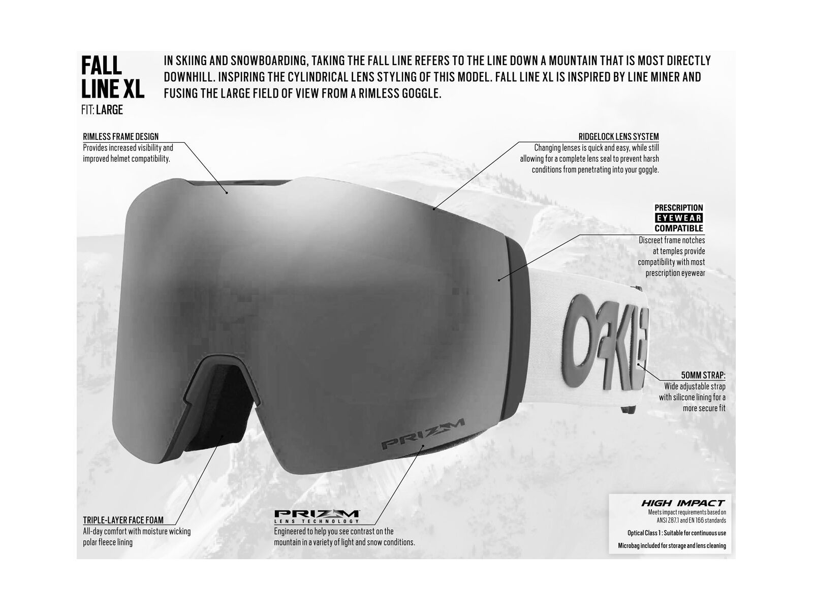 Oakley Fall Line XL - Prizm Sapphire Iridium, matte black/Lens: sapphire iridium | Bild 6