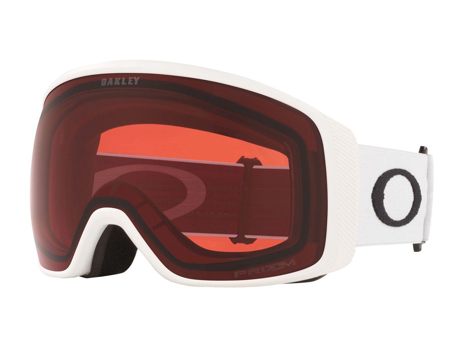 Oakley Flight Tracker XL Prizm, matte white/Lens: rose - Skibrille OO7104-14