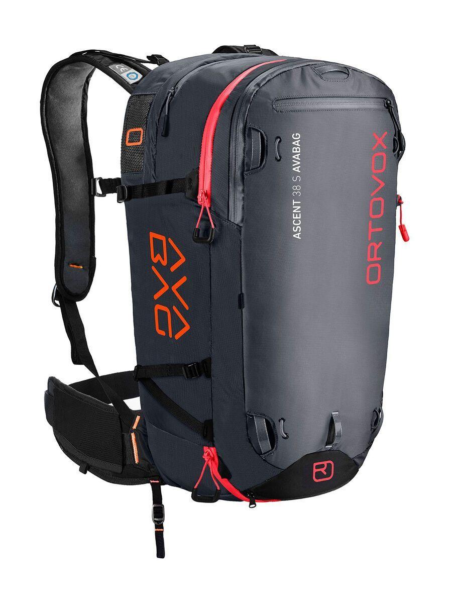 Ortovox Ascent 38 S Avabag Kit, ohne Kartusche, black anthracite - Lawinenrucksack 4611500001