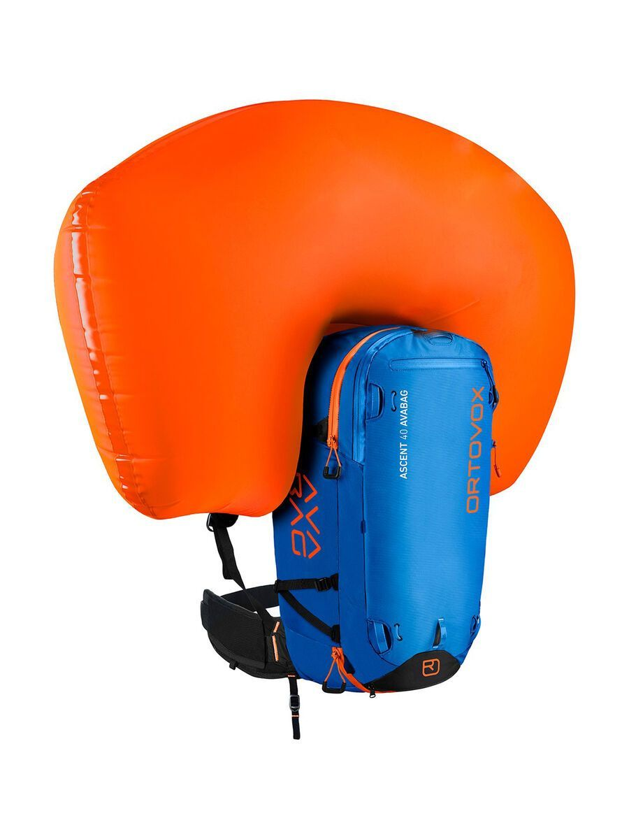 Ortovox Ascent 40 Avabag Kit, ohne Kartusche, safety blue - Lawinenrucksack 4611100002