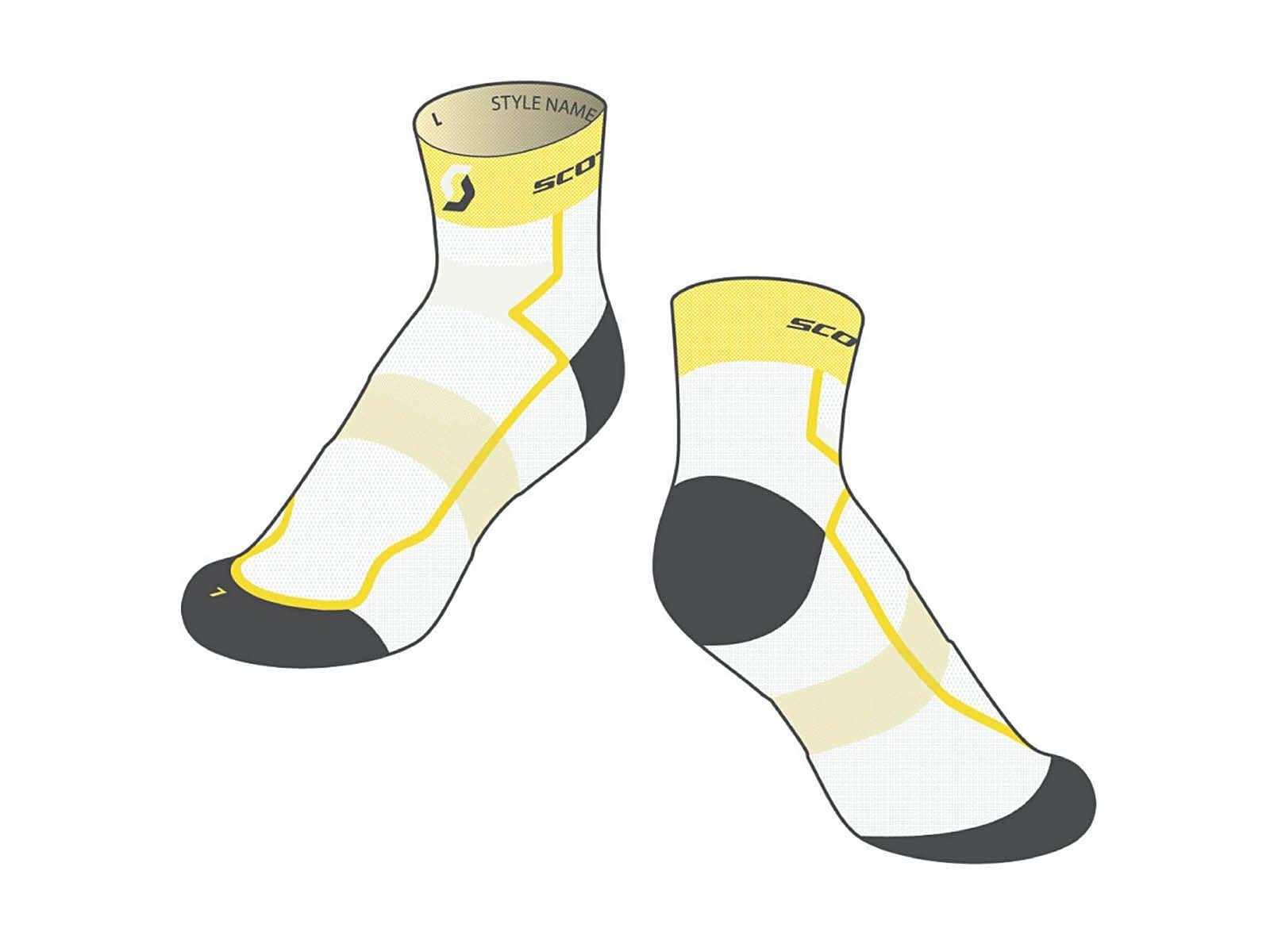 Scott RC Light Socken, white/yellow | Bild 1