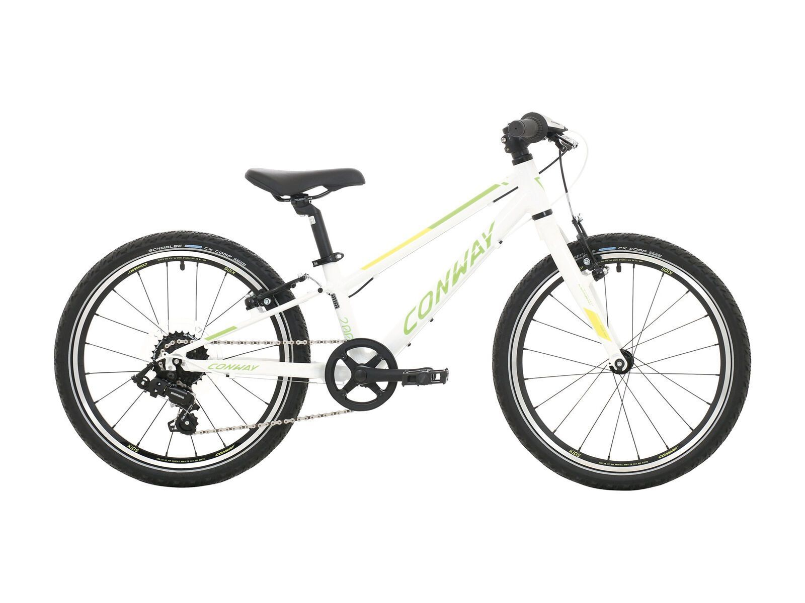 Conway MS 200 Rigid 2020, white/green - Kinderfahrrad, Größe 23 cm 02870228