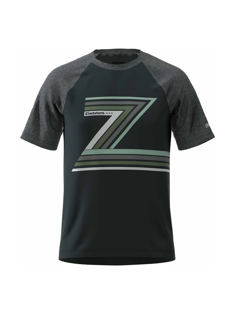 Zimtstern The-Z Tee, pirate black/melange - Radtrikot, Größe S M20021-1005-02
