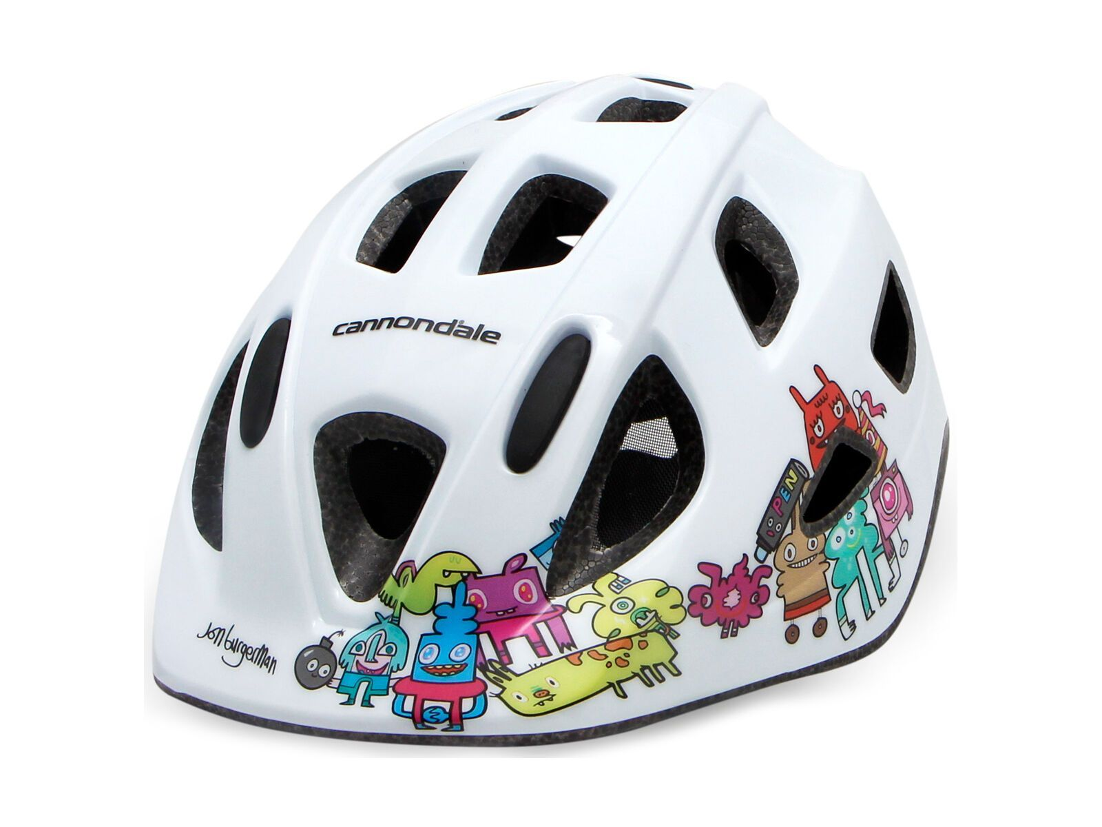 Cannondale Burgerman Colab Kids Helmet, white - Fahrradhelm, Größe S/M // 52-57 CM CH4707U40SM