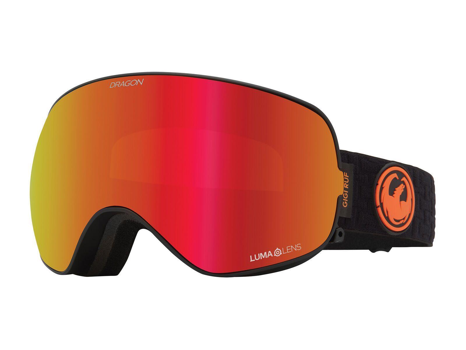 Dragon X2s inkl. WS, gigi sig 20/Lens: lumalens red ion - Skibrille 404557230608