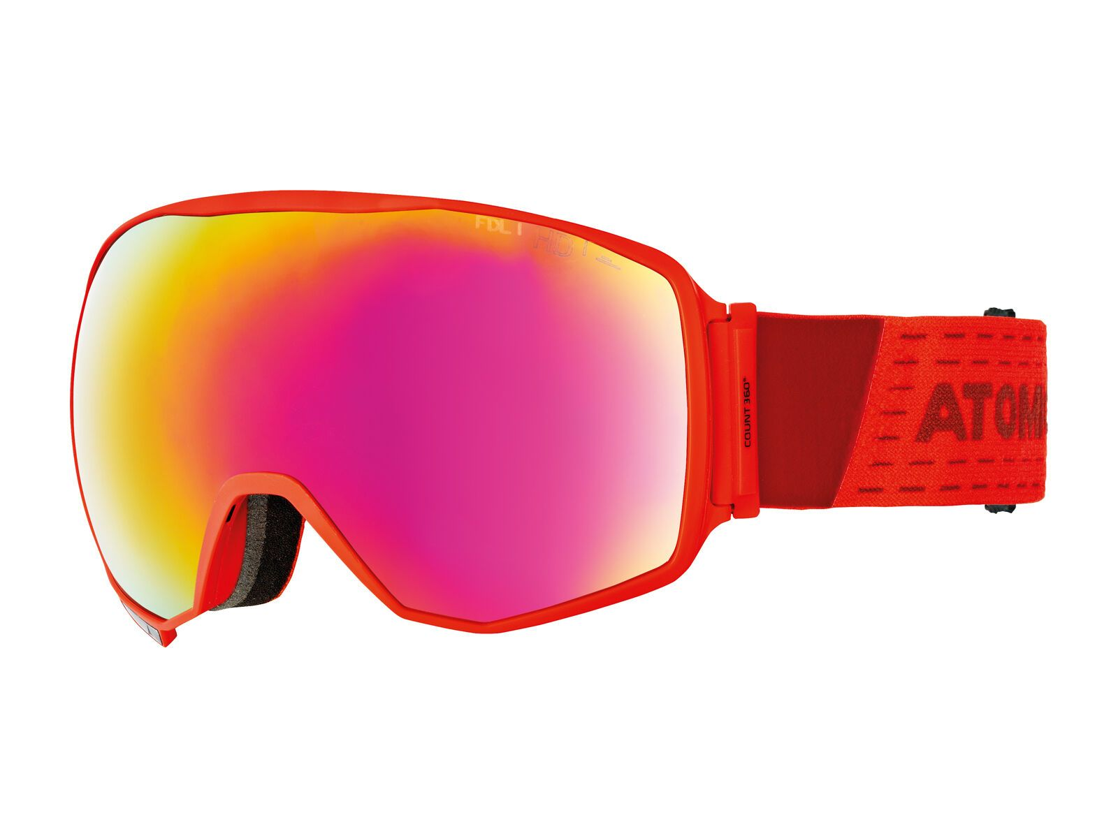 Atomic Count 360° HD, red/Lens: red stereo hd - Skibrille AN5105624