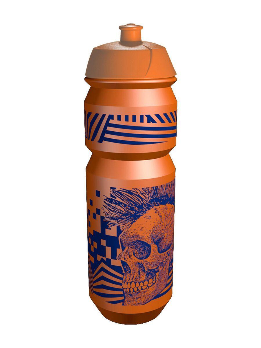 Riesel Design flasche, skull orange - Trinkflasche RF-F006