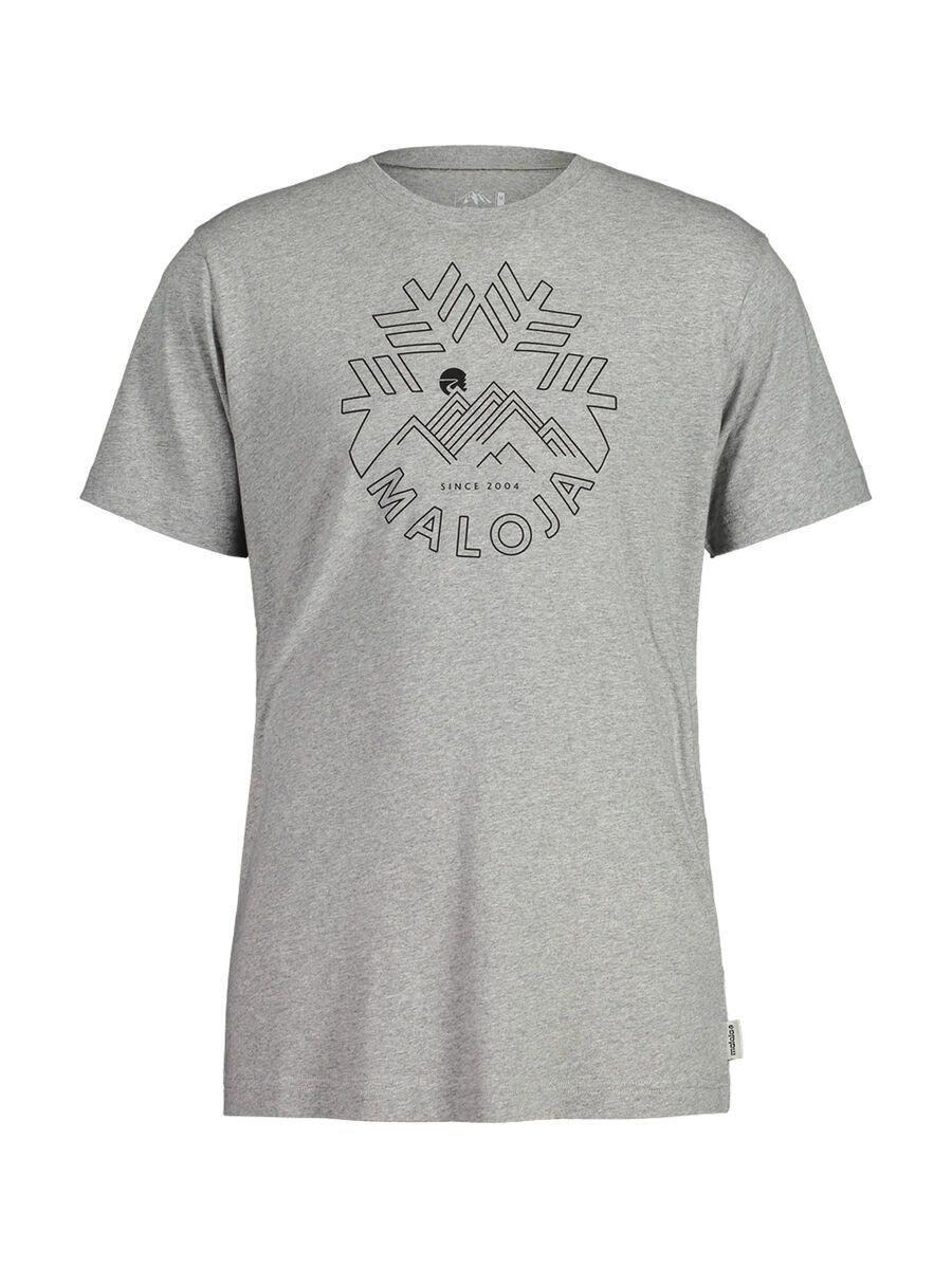 Maloja ChuzamM., grey melange - T-Shirt, Größe L 30503-1-7096-L