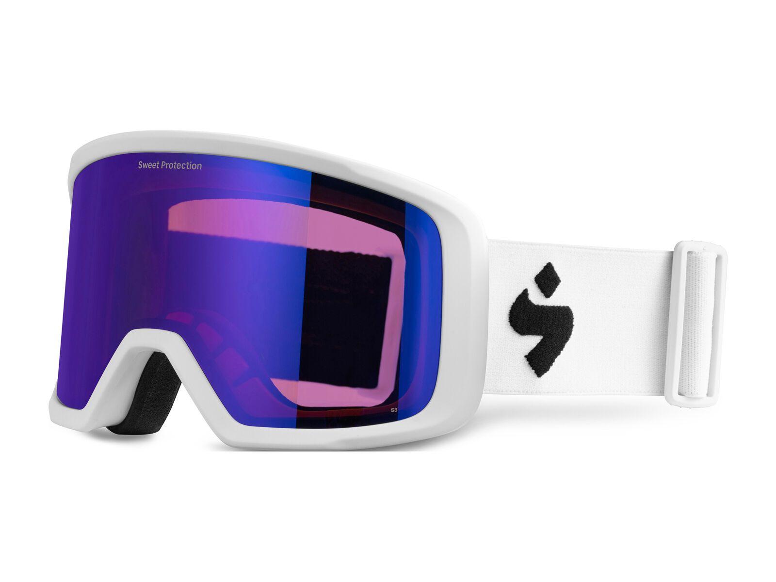 Sweet Protection Firewall, satin white/lens: satin saphire - Skibrille 850005-Satin-White-Satin-Saphire
