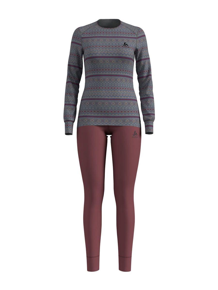 Odlo Set Active Warm X-Mas, grey melange/roan rouge - Unterwäsche-Set, Größe S 196371-10695-S