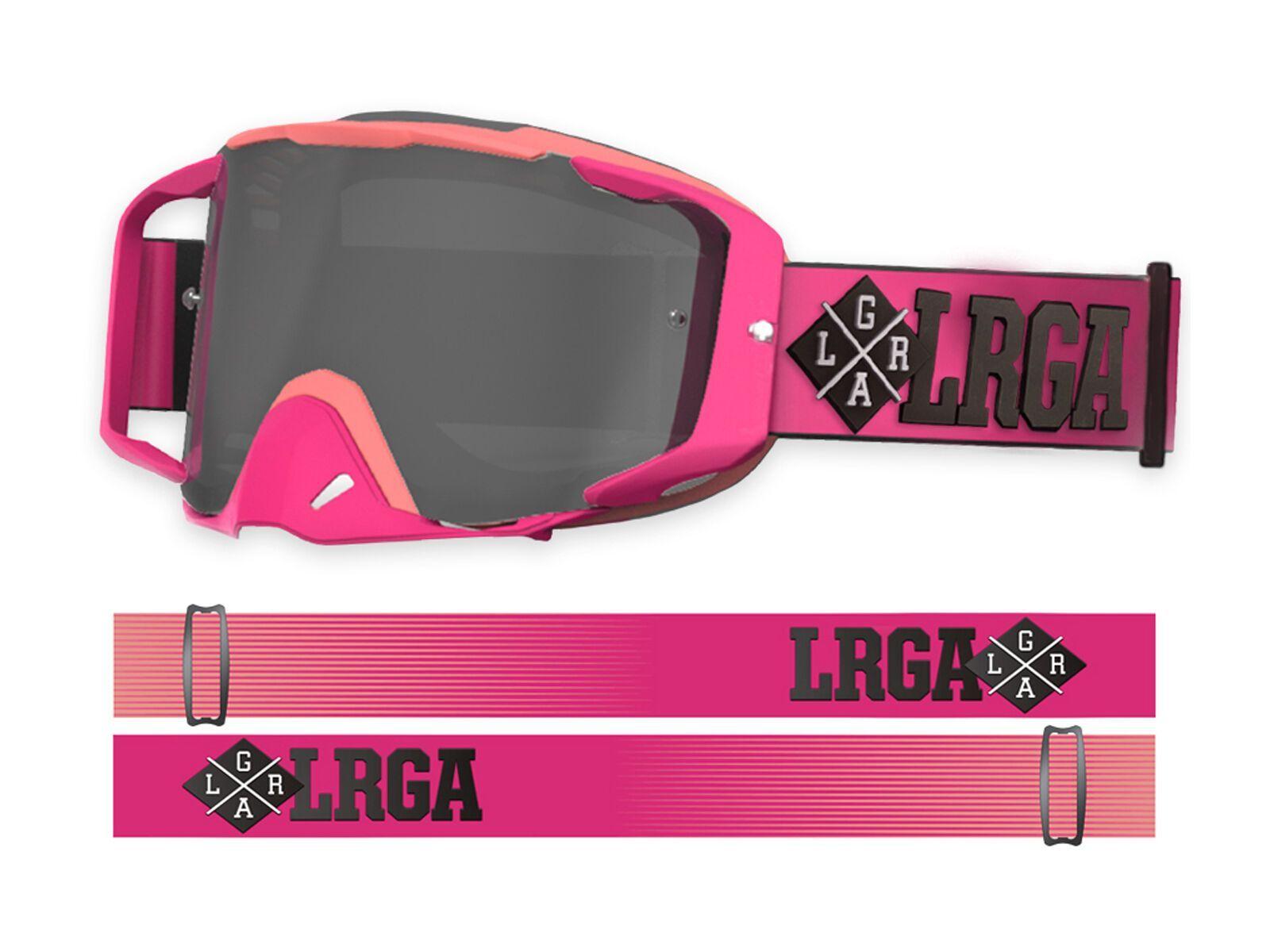 Loose Riders C/S Goggle Pink inkl. WS, Lens: silver smoke mir | Bild 1