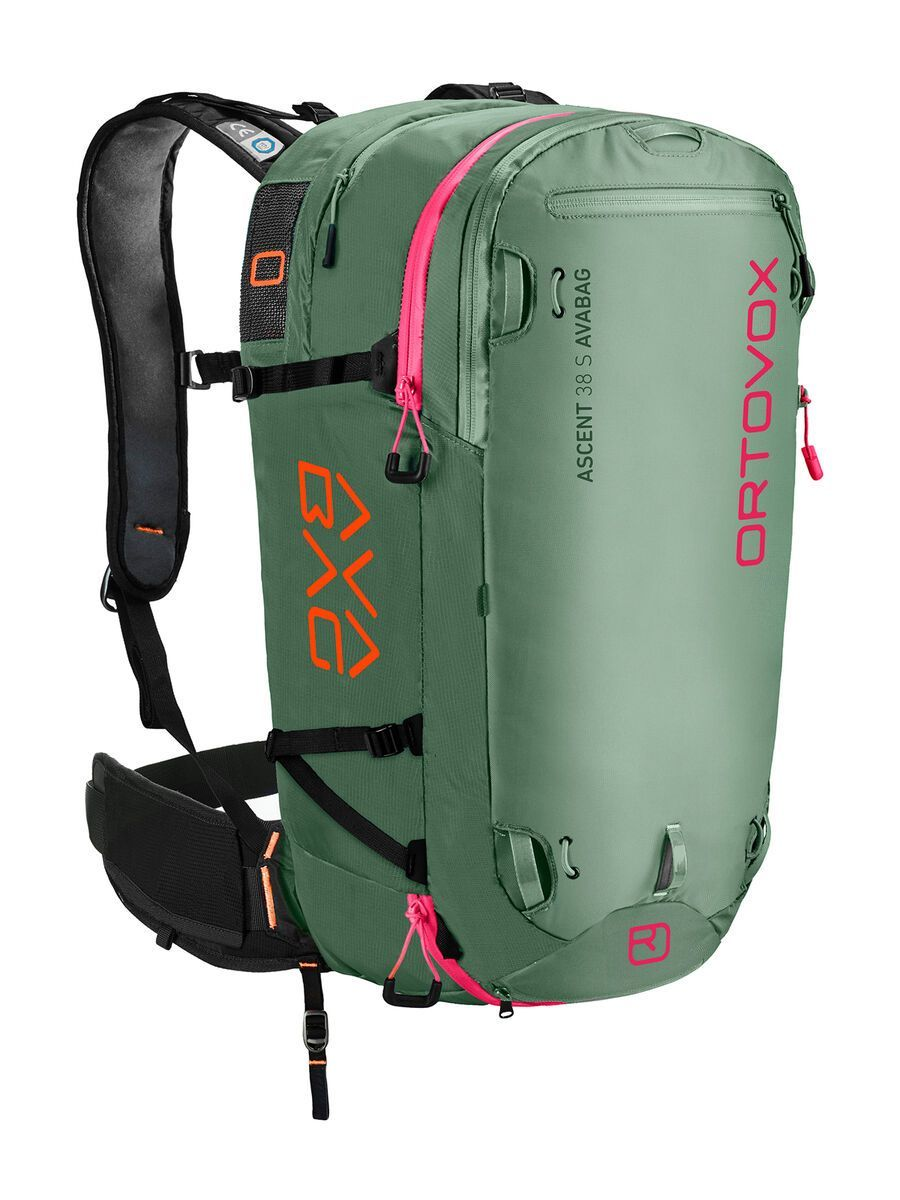 Ortovox Ascent 38 S Avabag Kit, ohne Kartusche, green isar - Lawinenrucksack 4611500003