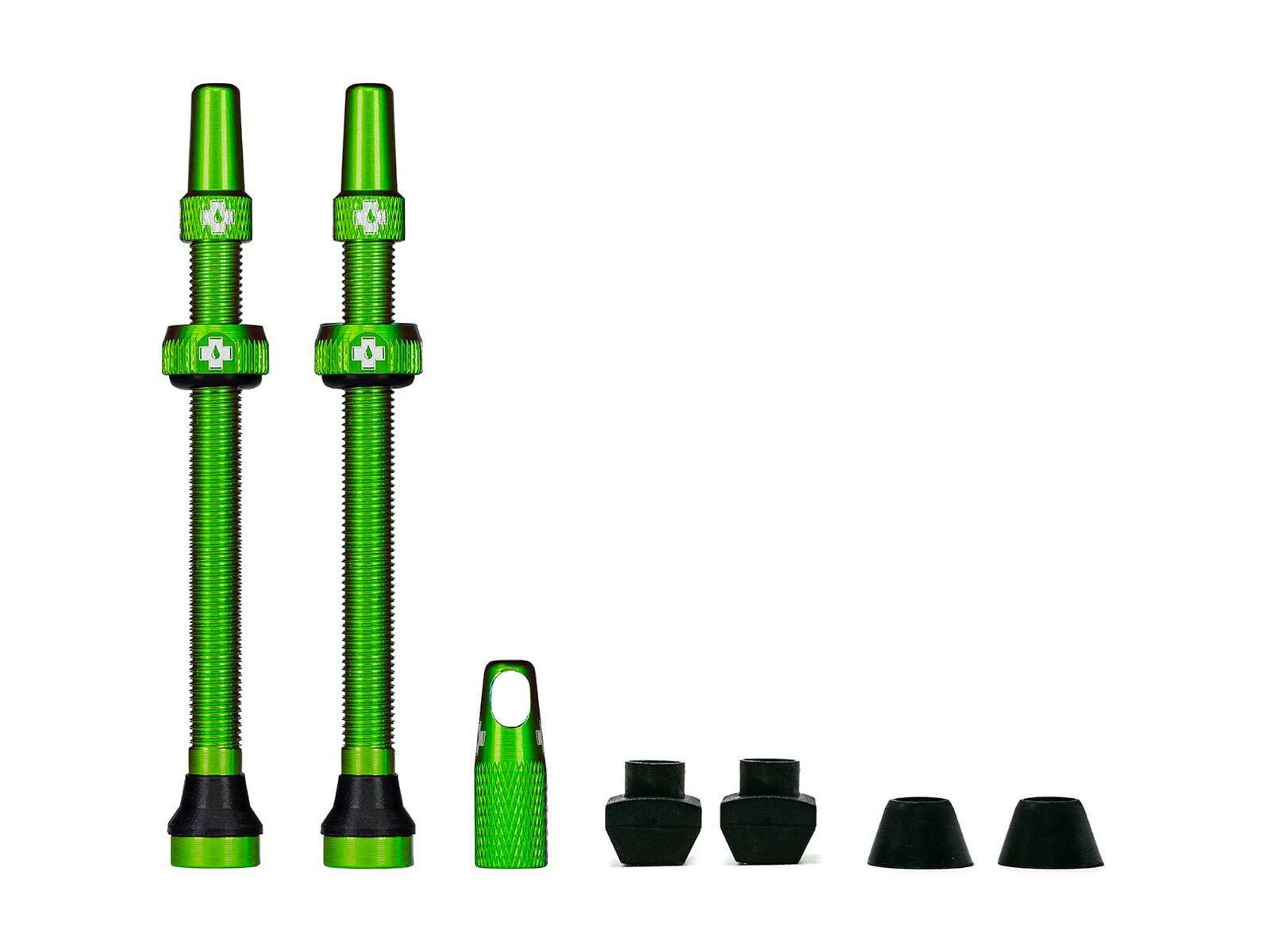 Muc-Off Tubeless Presta Valve - 80 mm, green - Tubeless-Ventil MU-TIR-1051/11/80