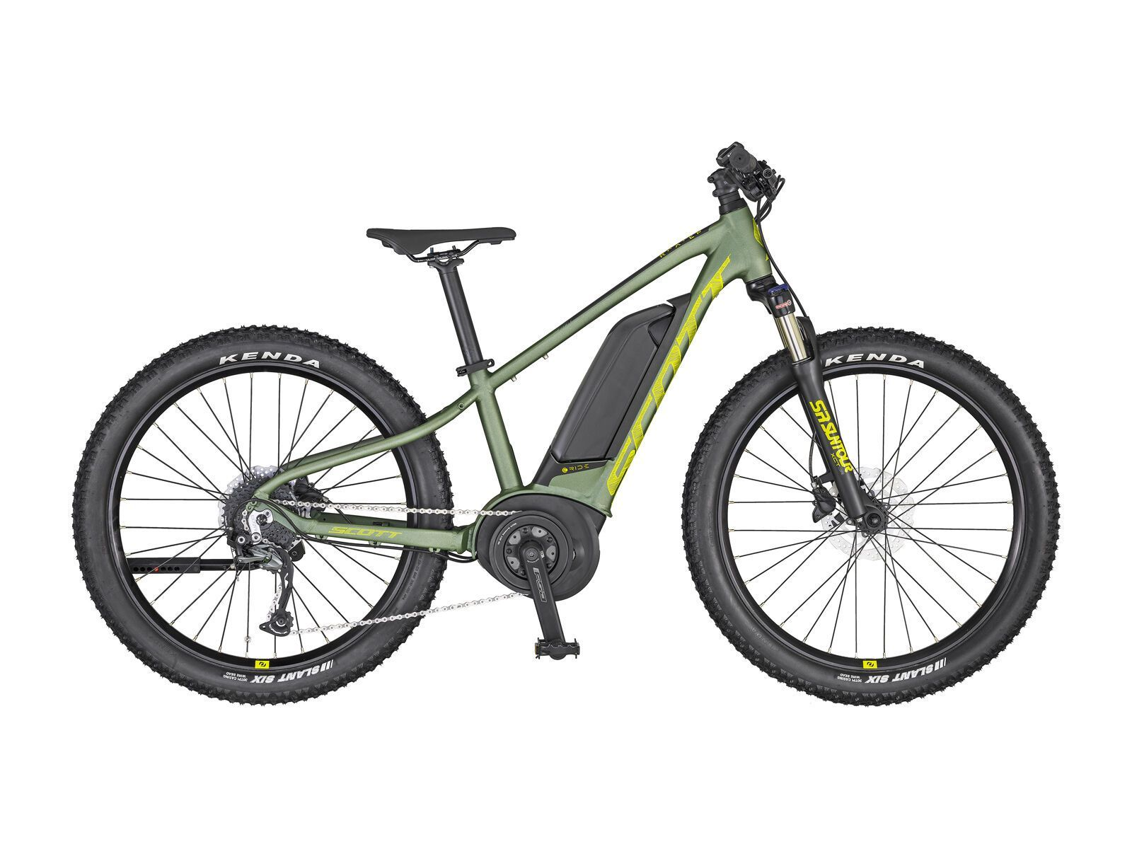 Scott Roxter eRide 24, dark ivy green/radium yellow/black   Bild 1