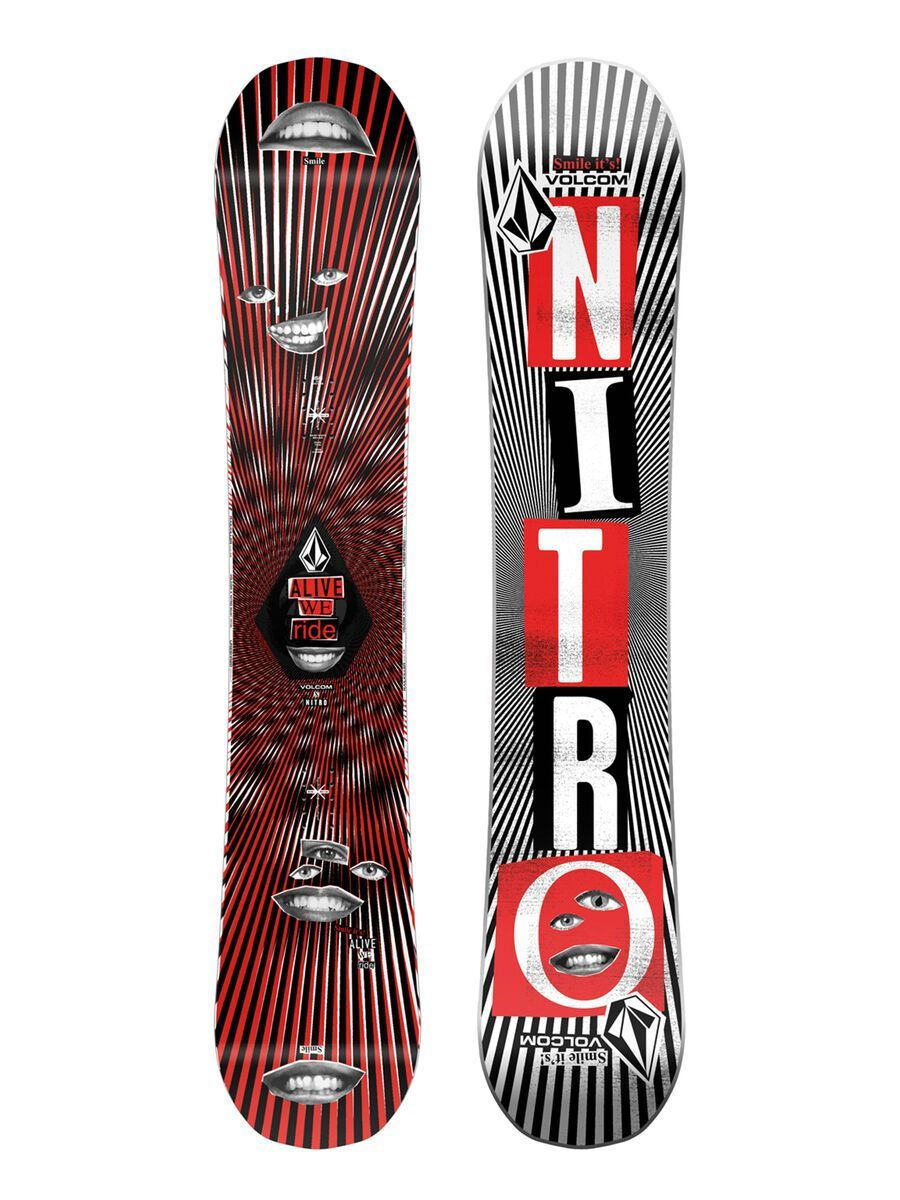 Nitro Beast x Volcom 2021 - Snowboard, Größe 155 cm 1211-830553-3001-155