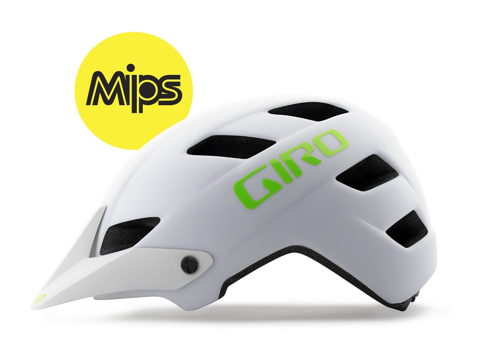 Giro Feature MIPS, matte white lime | Bild 2