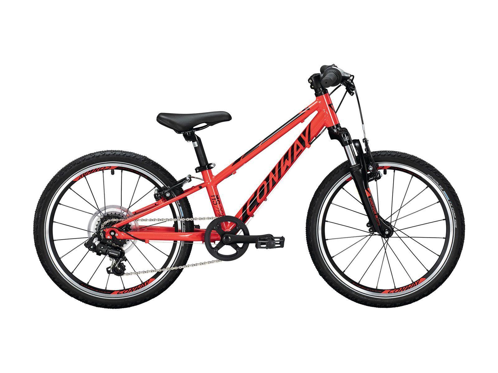 Conway MS 200 Suspension 2021, red/black - Kinderfahrrad, Größe 23 cm 02875680
