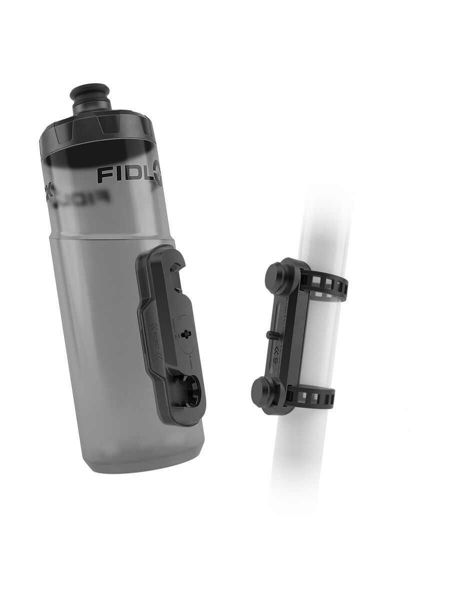 Fidlock Twist Bottle 600 + Uni Base, transparent black - Trinkflasche 09629(TBL)