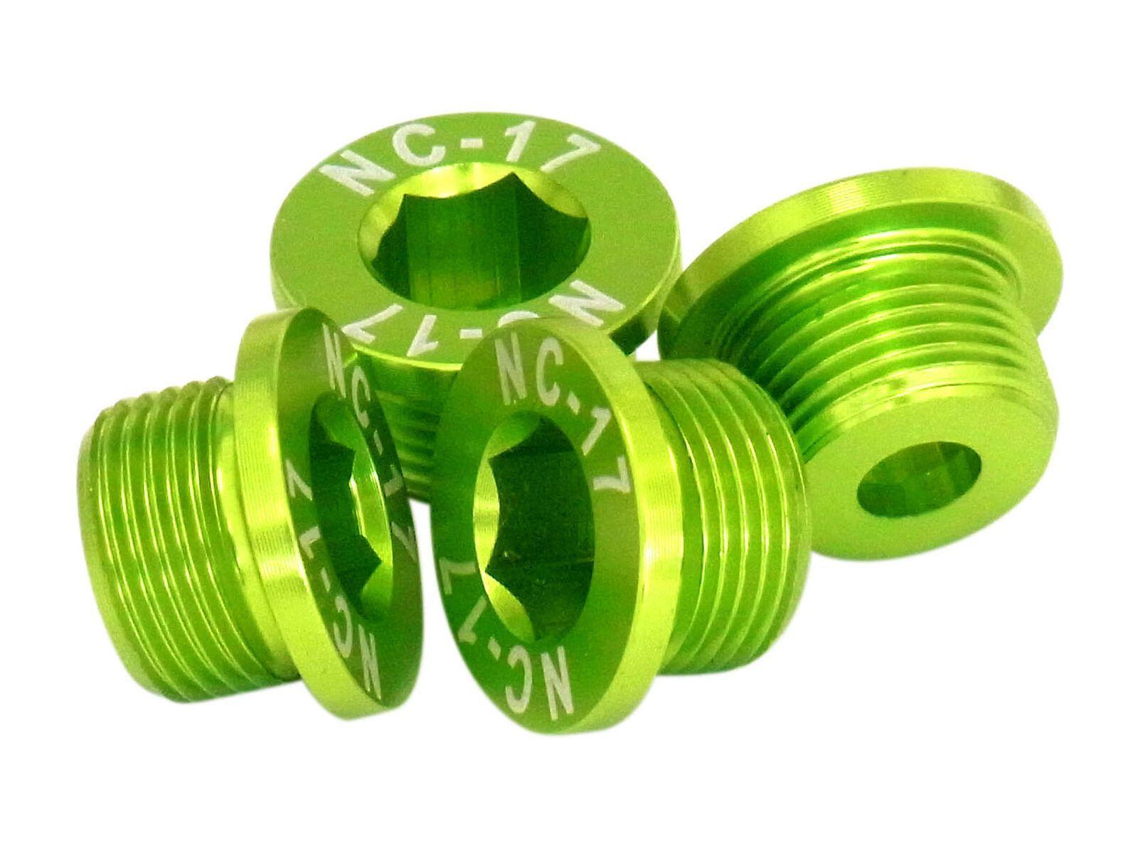 NC-17 M10 Kettenblattschraube für Sram 2-fach Kurbeln, green 8088