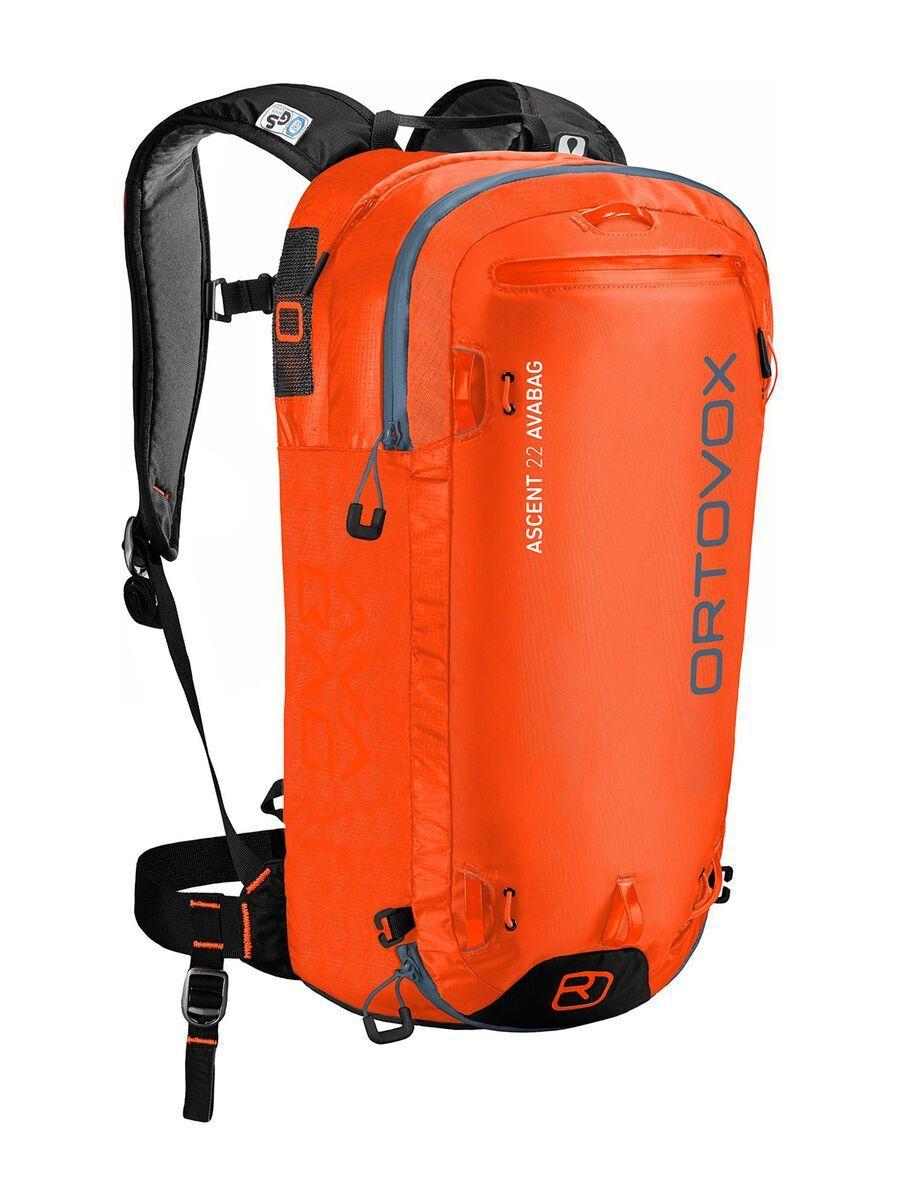 Ortovox Ascent 22 Avabag Kit, ohne Kartusche, desert orange - Lawinenrucksack 4610800003