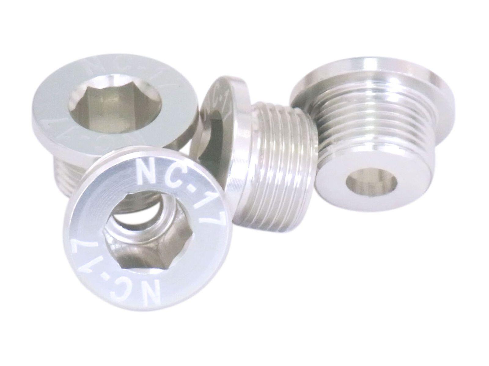 NC-17 M10 Kettenblattschraube für Sram 2-fach Kurbeln, silver 8090
