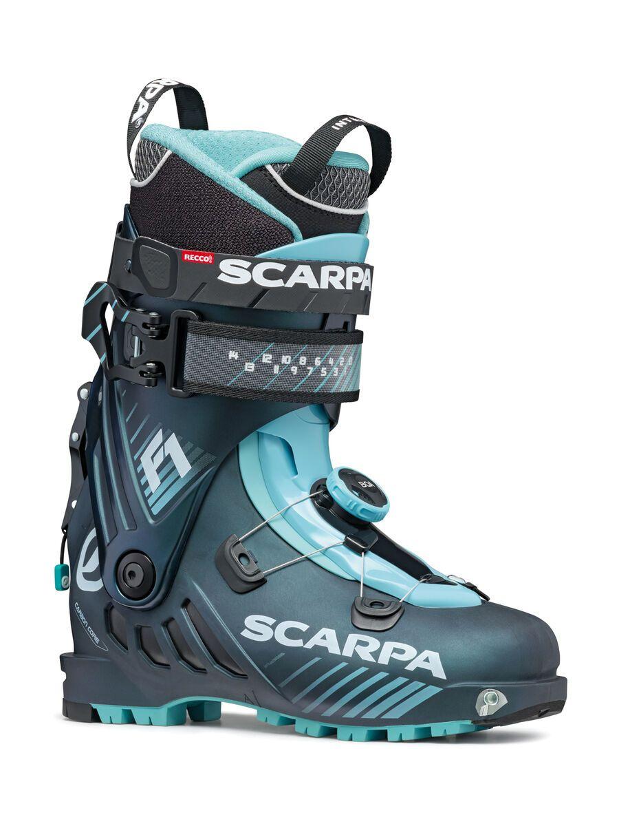 Scarpa F1 Wmn 2021, anthracite/aqua - Skiboots, Größe 25.5 // 8.5 12173-L-939-255