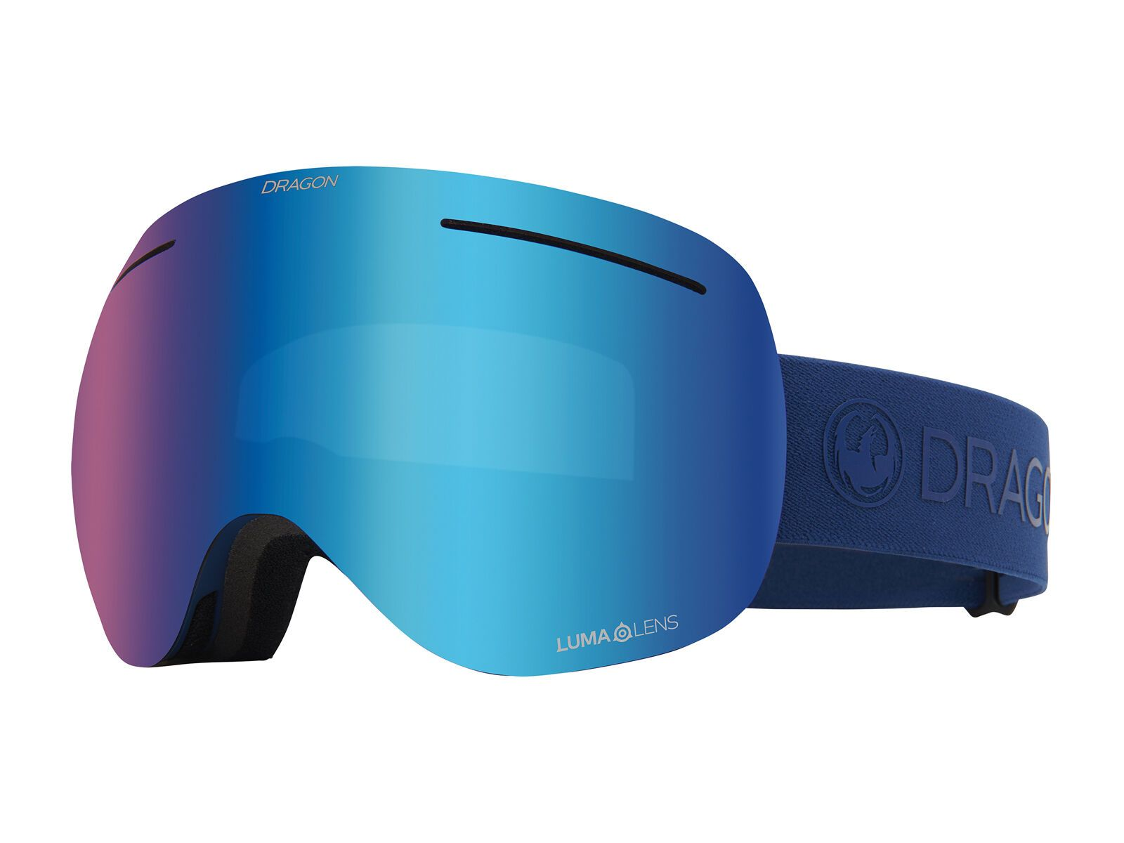 Dragon X1 inkl. WS, navy/Lens: lumalens blue ion - Skibrille 404597528415