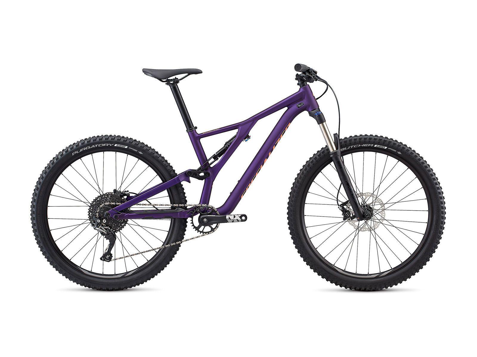 *** 2. Wahl *** Specialized Women's Stumpjumper ST Alloy 27.5 2019, plum purple/acid lava - Mountainbike | Größe M // 41 cm | Bild 1