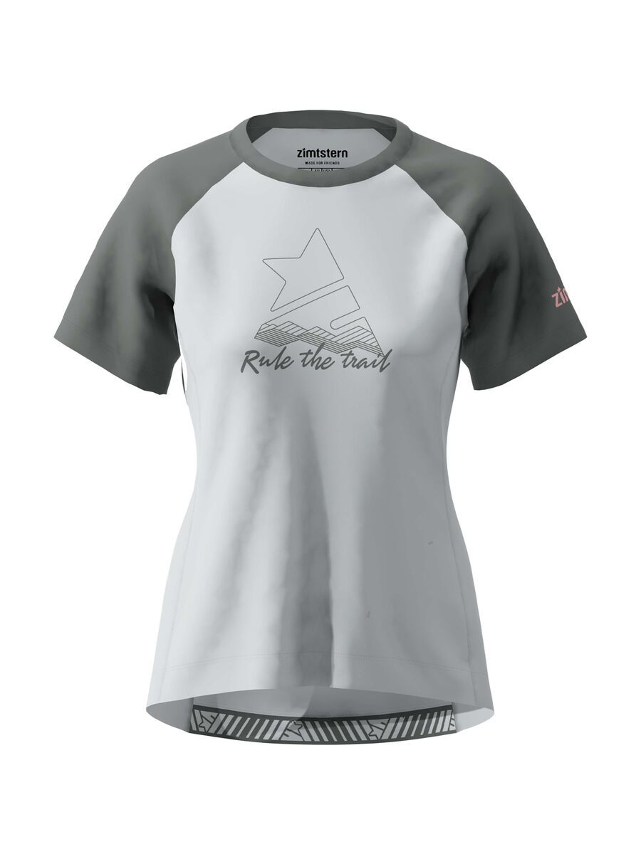 Zimtstern PureFlowz Shirt SS Women's, grey/gun metal/blush - Radtrikot, Größe S W10011-2006-02