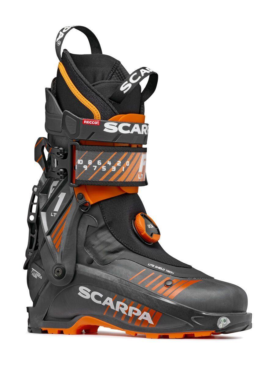Scarpa F1 LT 2021, carbon/orange - Skiboots, Größe 26.0 // 8 12172-937-260