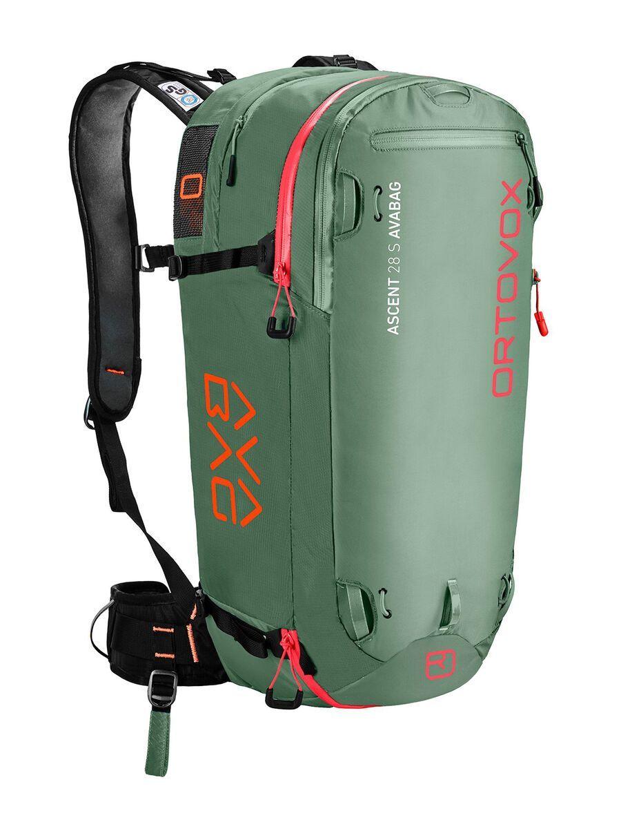 Ortovox Ascent 28 S Avabag Kit, ohne Kartusche, green isar - Lawinenrucksack 4610300003