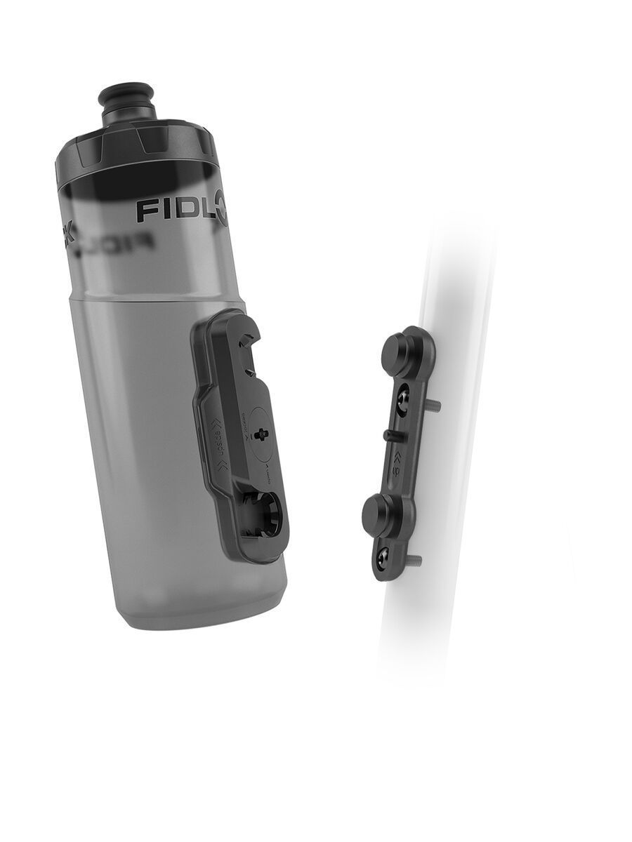 Fidlock Twist Bottle 600 + Bike Base, transparent black - Trinkflasche 09615(TBL)