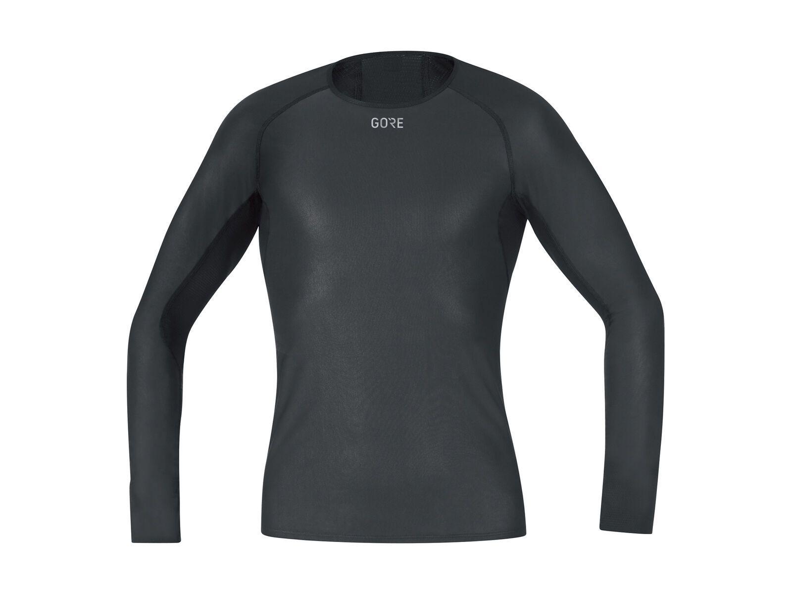 Gore Wear M Gore Windstopper Base Layer Shirt Langarm, black - Unterhemd, Größe L 100323990005
