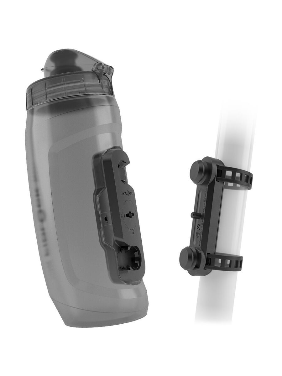 Fidlock Twist Bottle 590 + Uni Base, transparent black - Trinkflasche 09641(TBL)