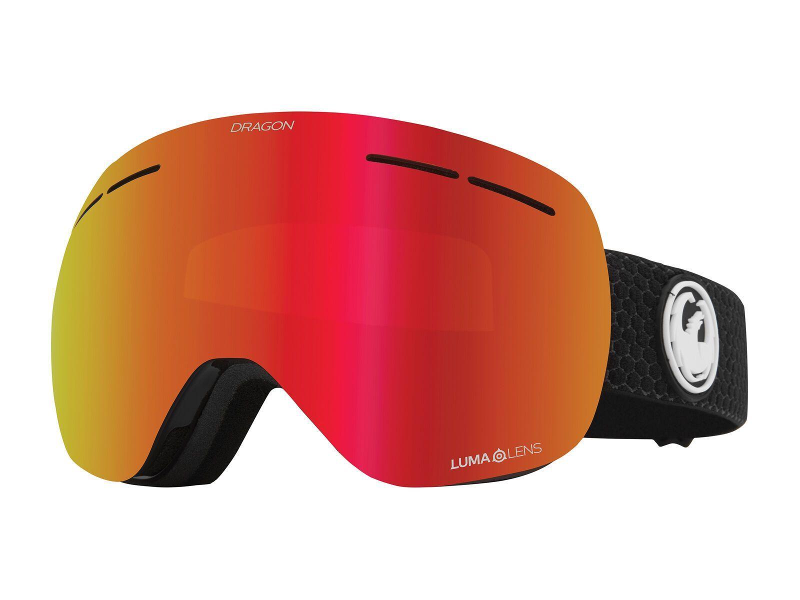Dragon X1s inkl. WS, split/Lens: lumalens red ion - Skibrille 404607018614