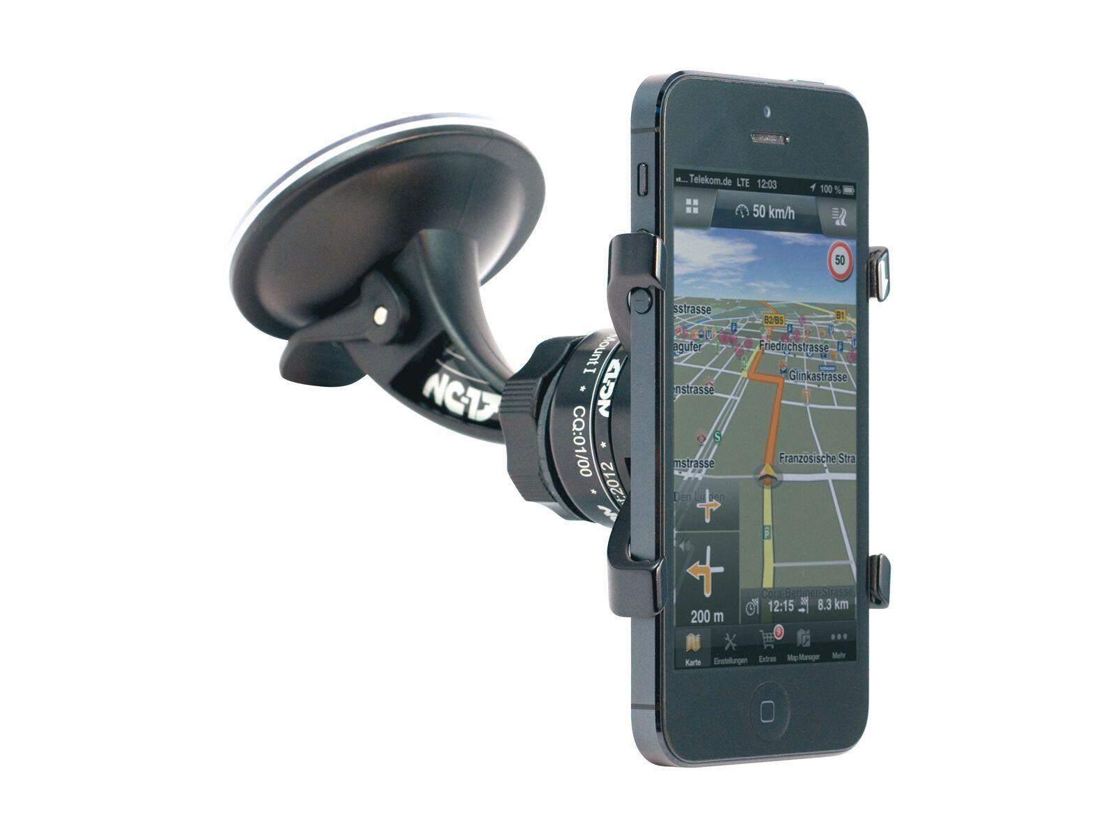 NC-17 iPhone Auto-Halter - Montage an Autoscheibe, black 4003