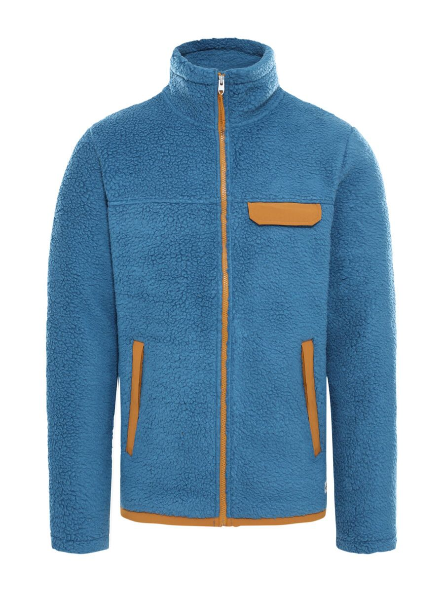 The North Face Men's Cragmont Fleece Full-Zip Jacket, mallard blue/timber tan - Fleecejacke, Größe S NF0A4R5FU1X-S