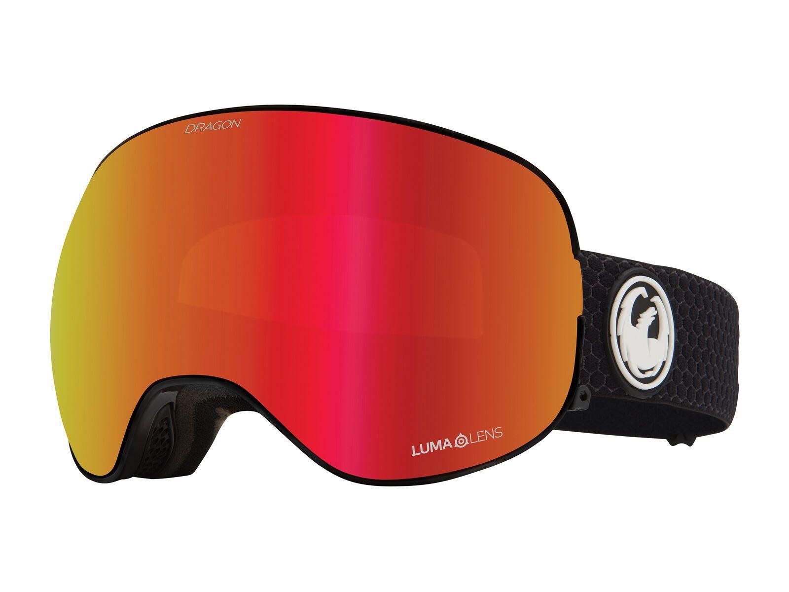 Dragon X2 inkl. WS, split/Lens: lumalens red ion - Skibrille 404547728614
