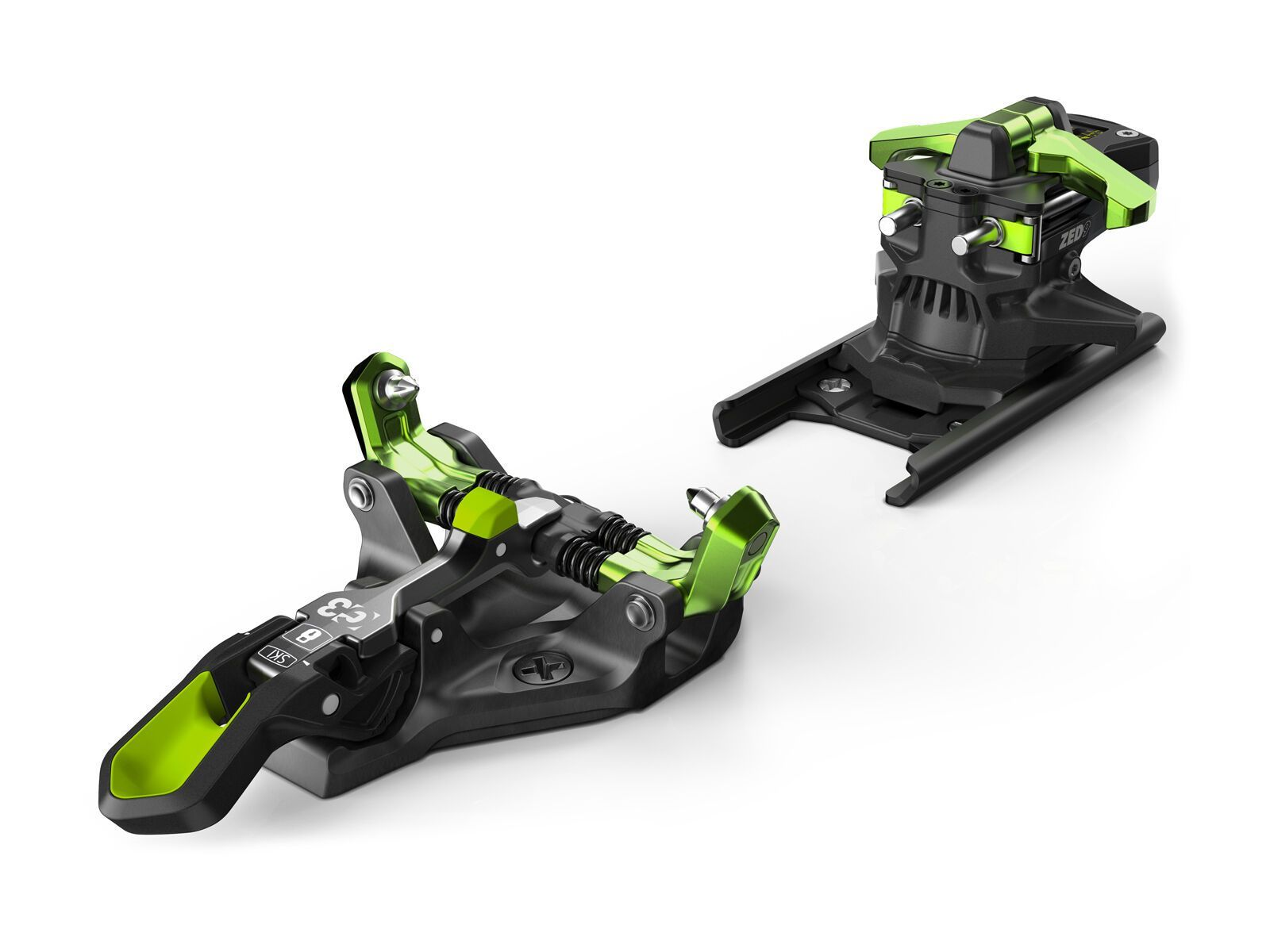 G3 ZED 9 ohne Bremse, green - Skibindung 008249