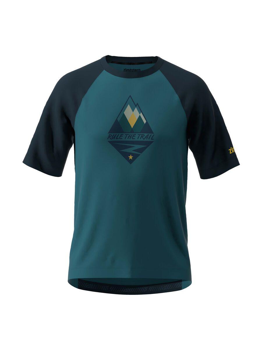 Zimtstern PureFlowz Shirt SS, steel/navy/mimosa - Radtrikot, Größe S M10011-3001-02