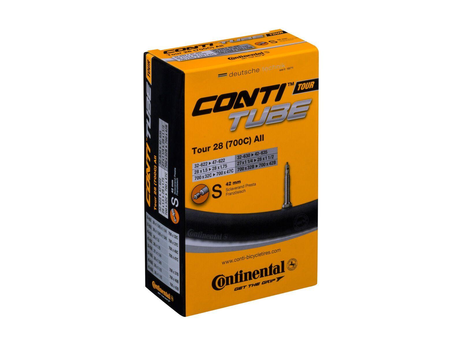 Continental ContiTube Tour 28 (700C) All SV - Fahrradschlauch 05371