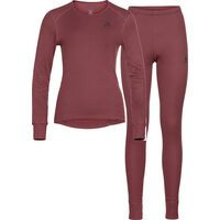 Odlo Women's Active Warm Eco Baselayer Set, roan rouge