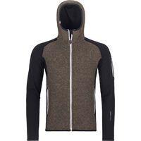 Ortovox Merino Fleece Plus Classic Knit Hoody M, black raven - Fleecehoody