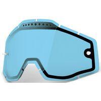 100% Racecraft/Accuri/Strata Vented Dual Replacement Lens, blue