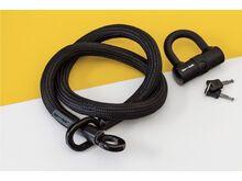 Tex-Lock Tex-Lock Eyelet M 120 cm inkl. U-Lock, schwarz - Fahrradschloss