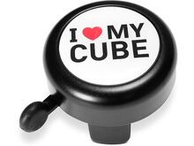 Cube Fahrradklingel I Love My Cube, black´n´white´n´red